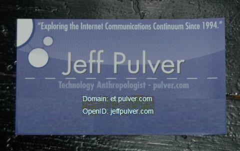 Jeff's business card in VON Spring 2008