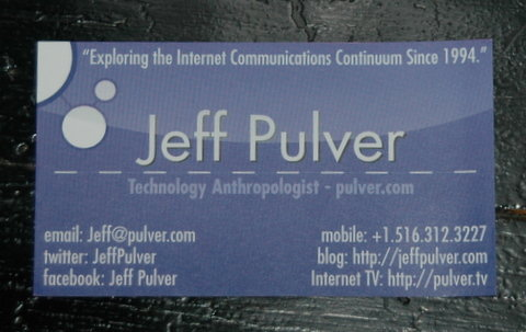 Jeff's business card in VON Fall 2007